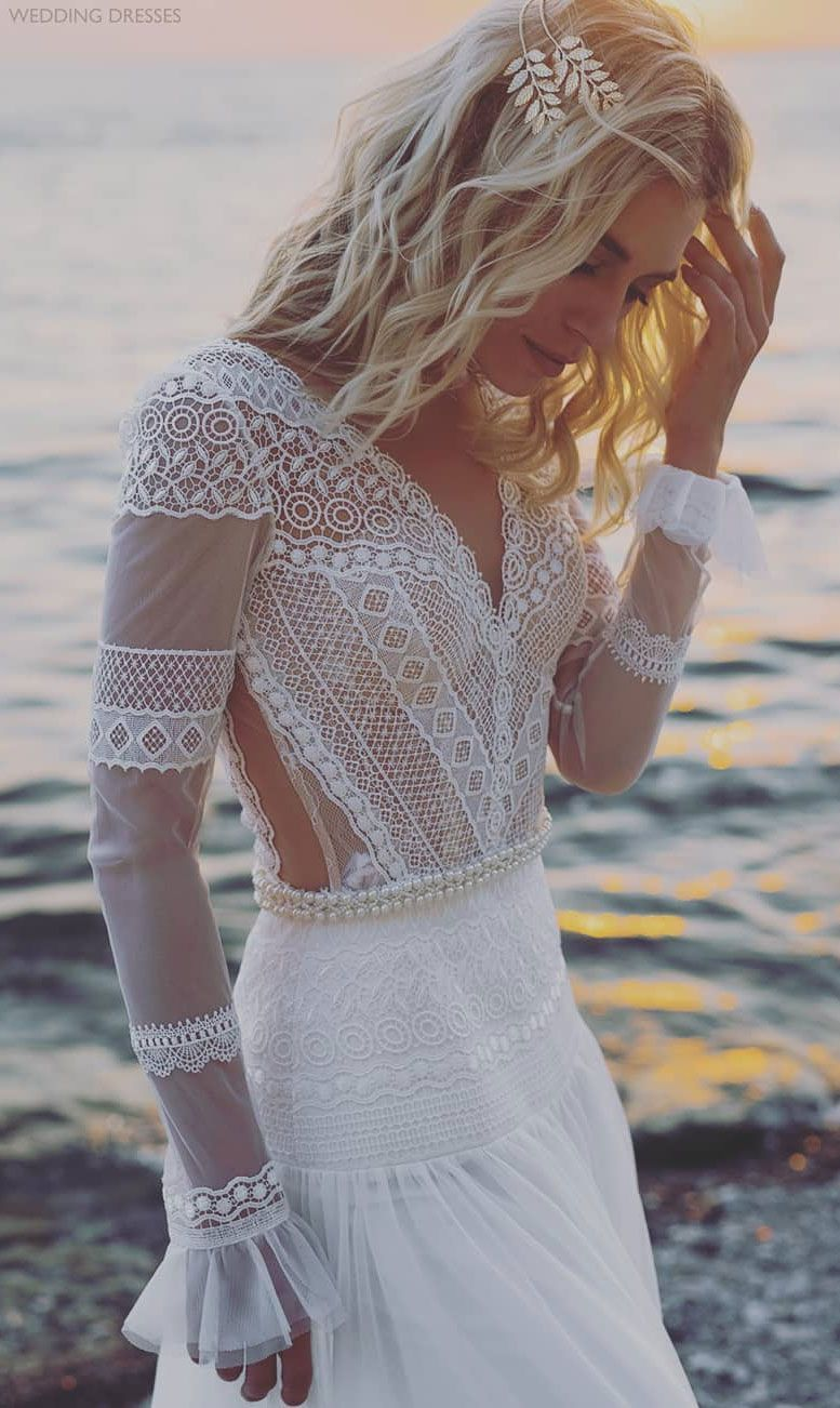 Beautiful bohemian wedding dress