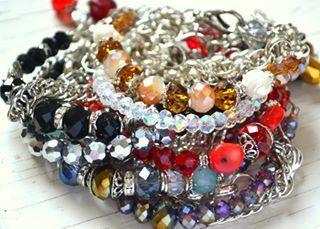 #bracelets #colorfull #cristal #stones #zamak