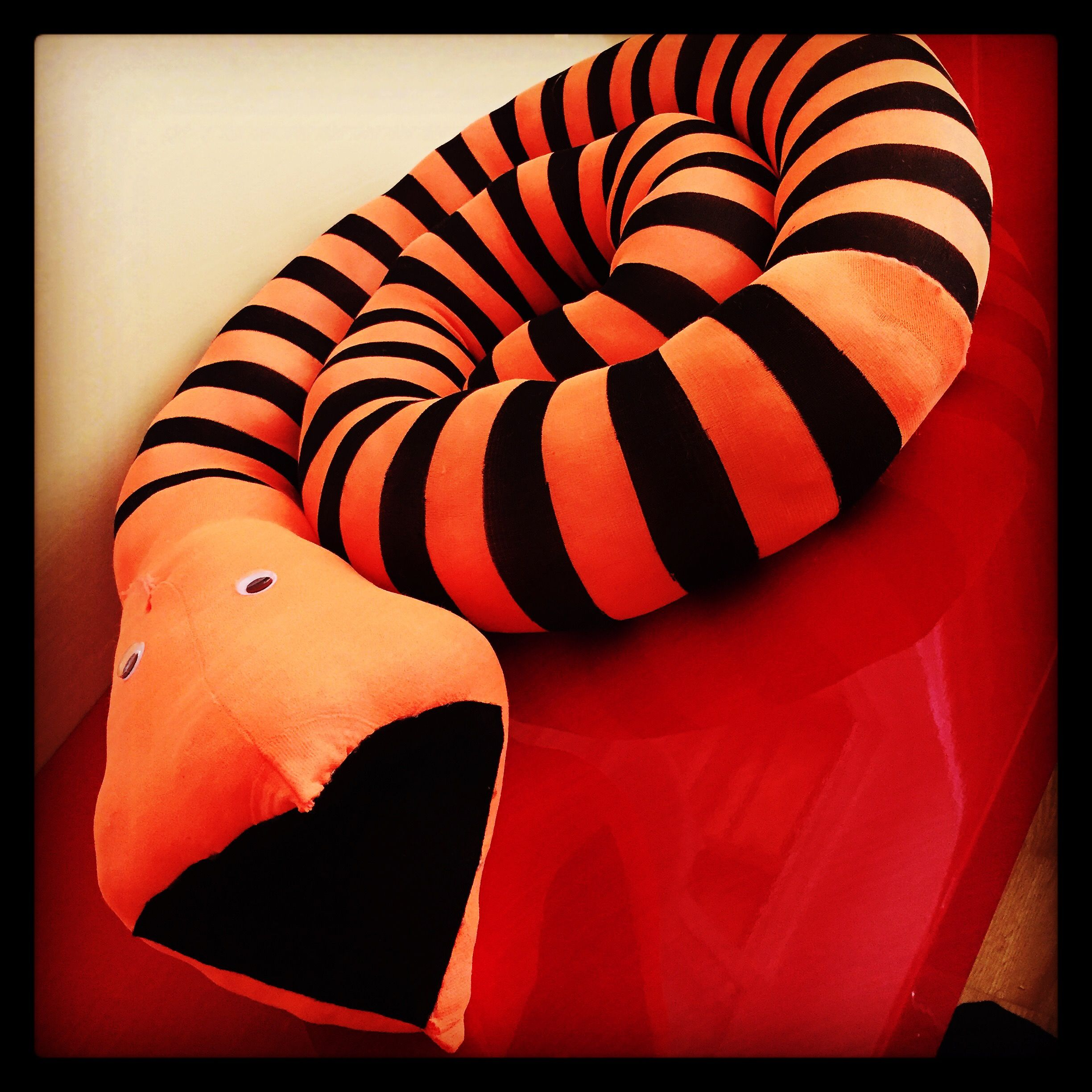 Nightmare before Christmas orange and black stripped snake ...