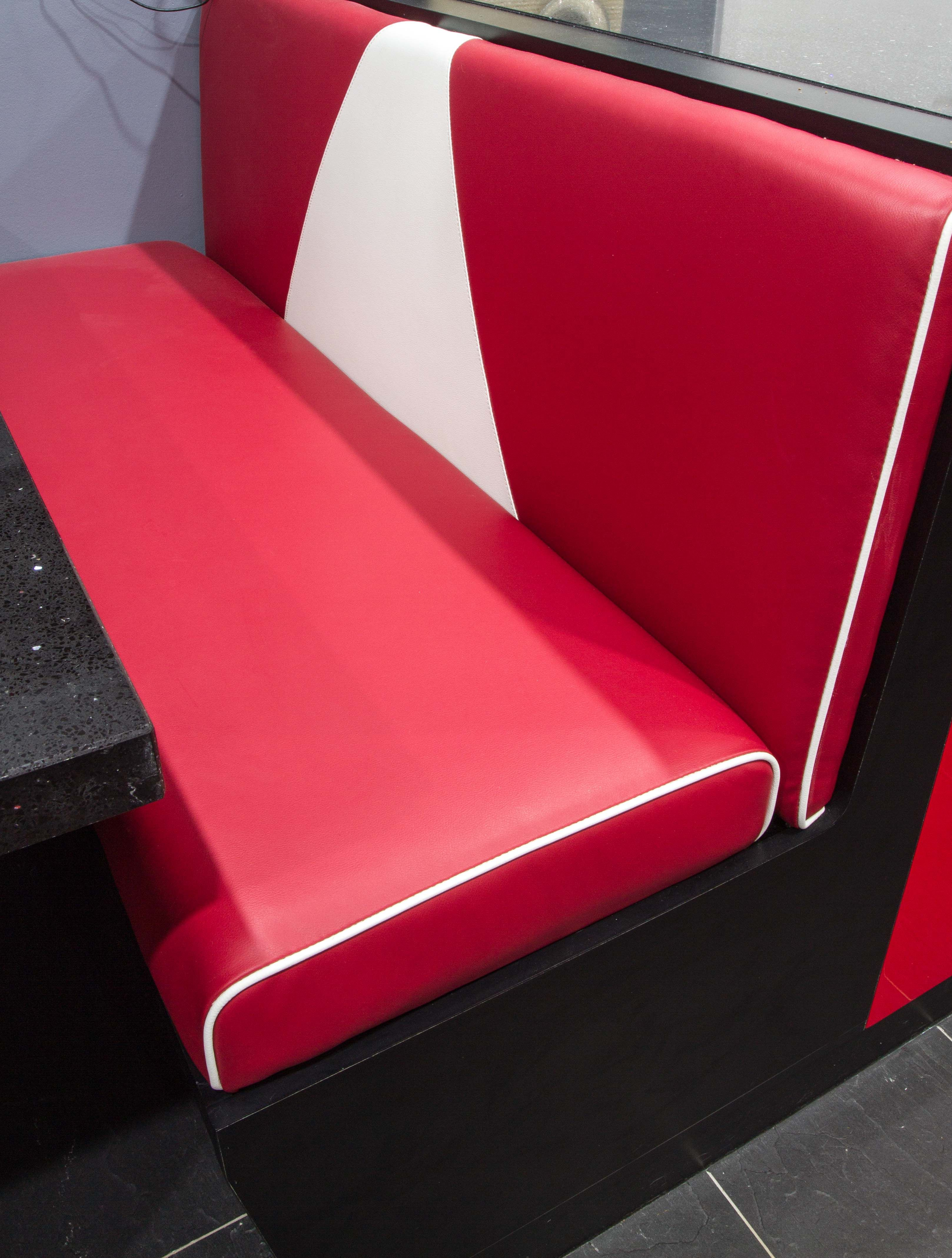 booth seat with under seat storage red leather booth seats retro