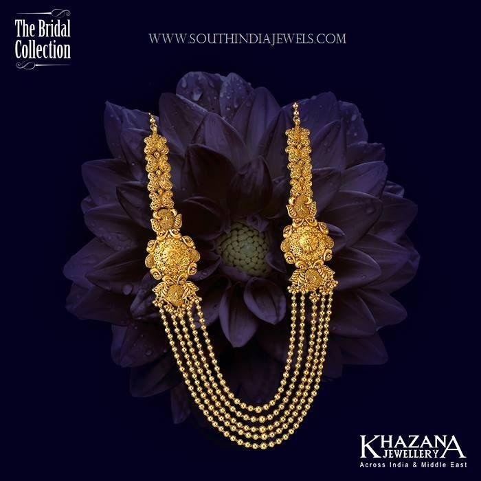 34828111fed Stunning Gold Haram Designs in Khazana Jewellery