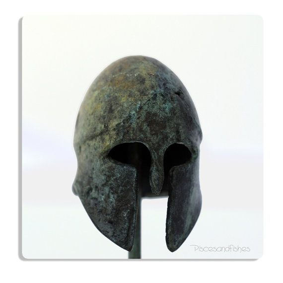 Ancient Greek Corinthian Helmet in Bronze by piscesandfishes @piscesandfishes @Sun San #art #sculpture #ancient #greece