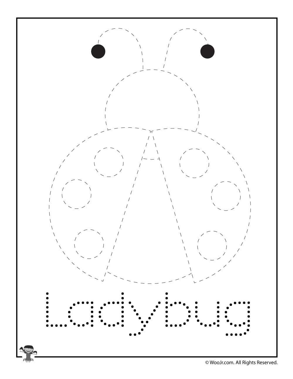 Ladybug Spring Letter Tracing Printable Woo Jr Kids Activities Letter L Crafts Kindergarten Worksheets Printable Kindergarten Worksheets [ 1294 x 1000 Pixel ]