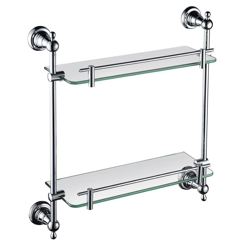 Heritage Holborn Double Glass Shelf Chrome Ahodgsc In 2018 En