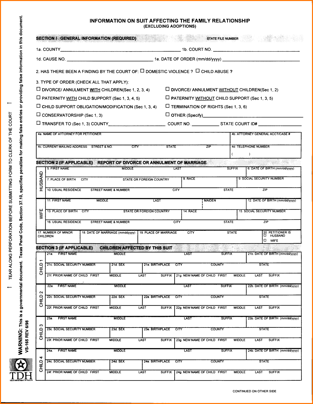 Fake Divorce Papers Printable Divorce Papers Florida Free Fake Forms Sample Documents .