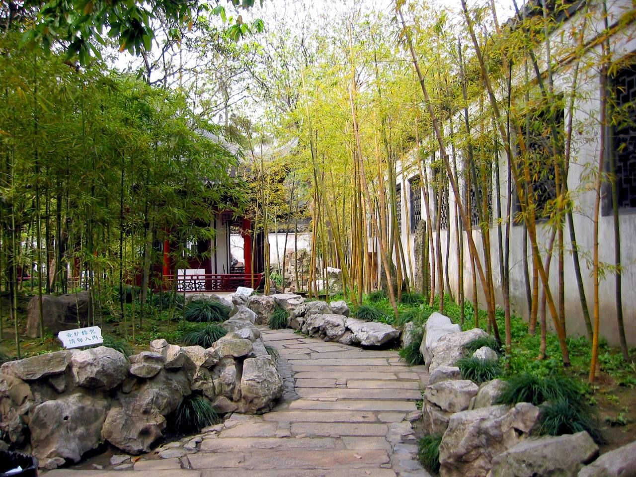 bamboo in the garden landscape design ideas stone path