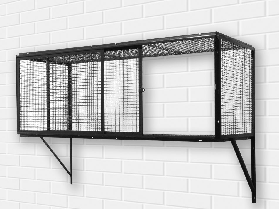 Wall Mounted Garage Lockers In NYC Provided Secure Visual Storage.  Available In 8 Standard Sizes. Free On Site Layouts. Equiptall Of NYC Wall  Mounted Cages ...