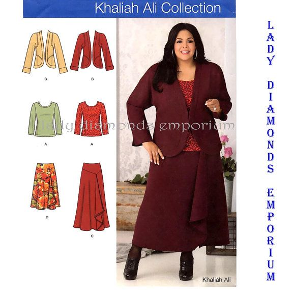 a3a061e19 Simplicity 1761 Womens Plus Size Skirt Top Jacket by ladydiamond46 ...