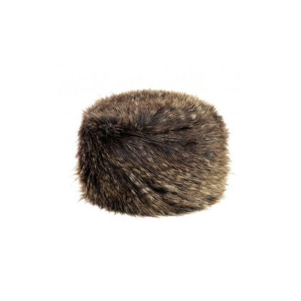 Franchetti Bond Brown Bear Hat ($86) ❤ liked on Polyvore featuring accessories, hats, long hat, bear fur hat, bear hat, brown bear hat and fur hat
