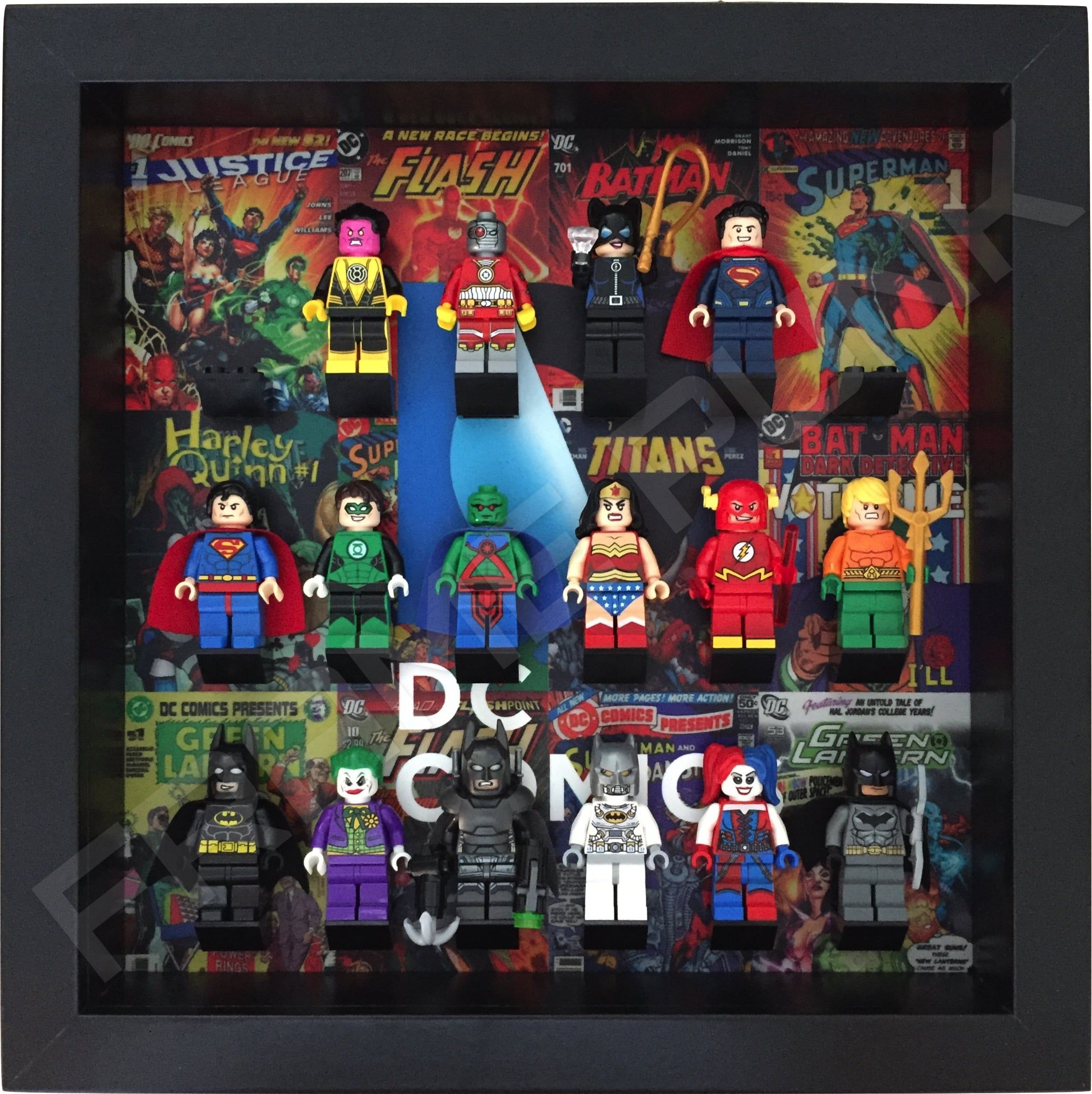 Lego Minifigures Display Case Picture Frame DC Comics Superman Symbol
