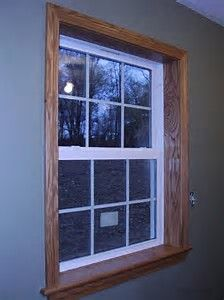 Image Result For Window Frames White Trim With Wood Stain