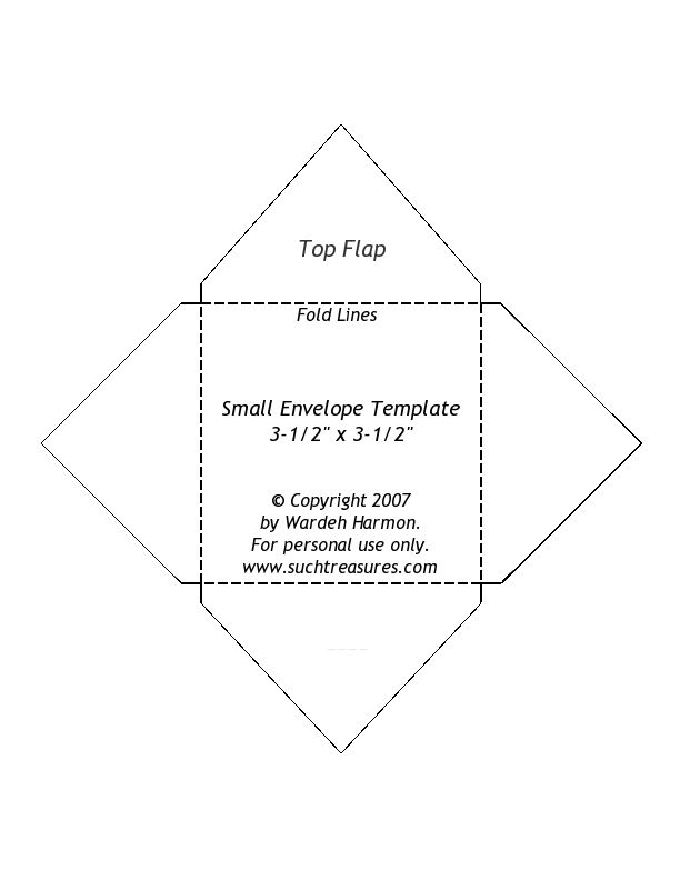 Small Envelope Template - Note: The Printed Size Does Not Match