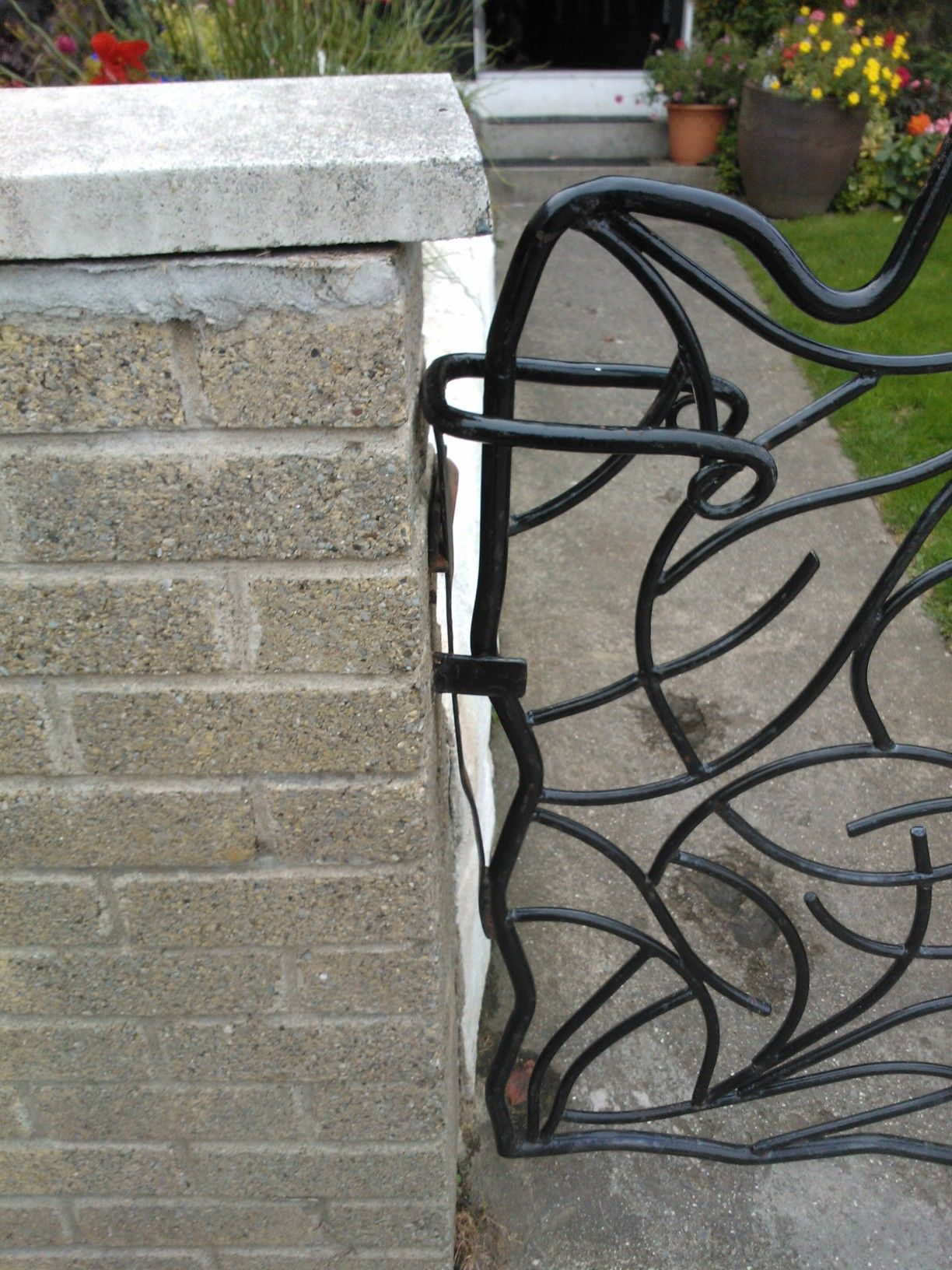 Old Style Garden Gate Latch Made With Sprung Steel Old