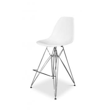 Outstanding Eames Eiffel White Bar Stool Chrome Base Replica Pdpeps Interior Chair Design Pdpepsorg