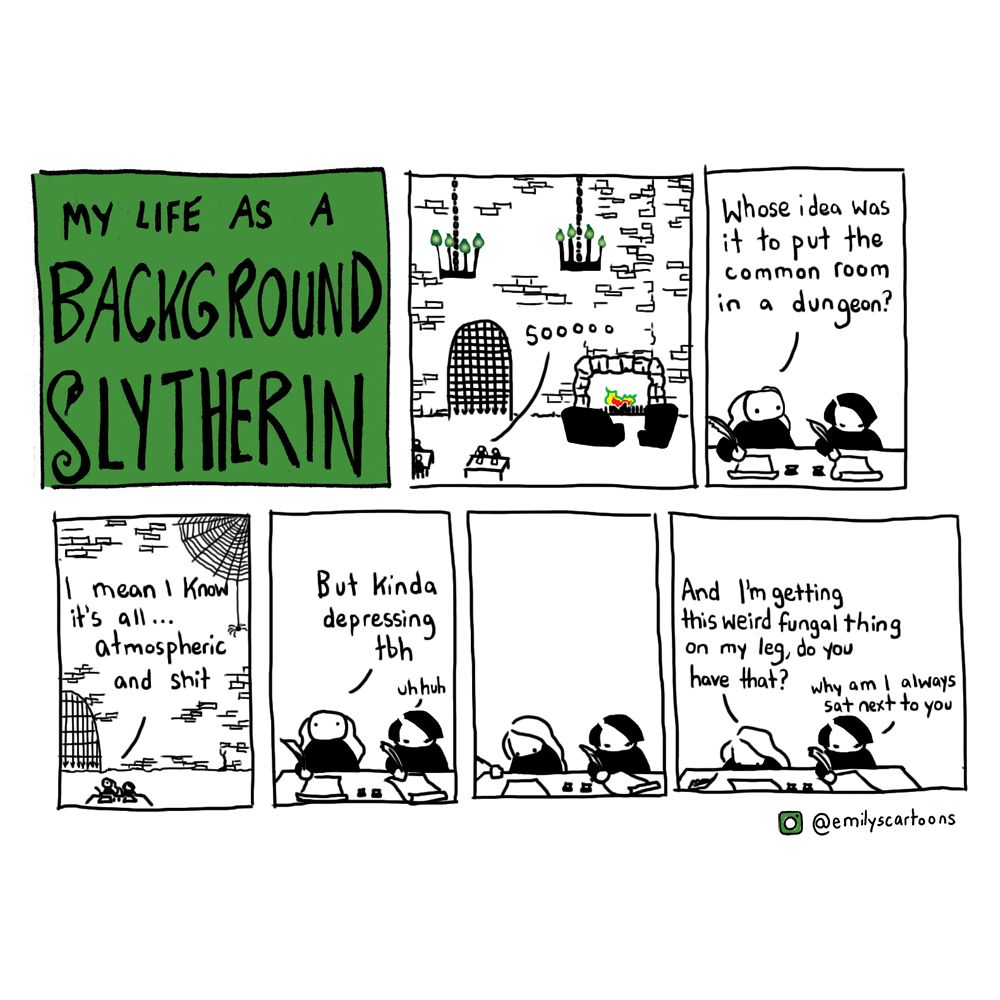 Emily\'s Cartoons - Background Slytherin Part II The story so far ...