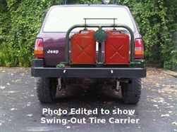 Grand Cherokee Zj Rear Bumper With Jerry Can Rig And Spare Tire