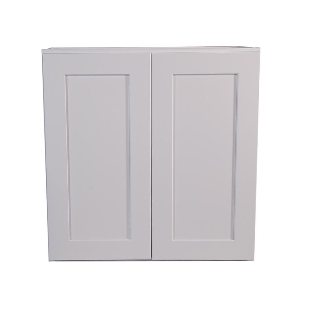 Design House Brookings Plywood Ready To Assemble Shaker 33x24x12 In 2 Door Wall Kitchen Cabinet In White 561605 The Home Depot Kitchen Wall Cabinets Wall Cabinet Shaker Style Kitchens