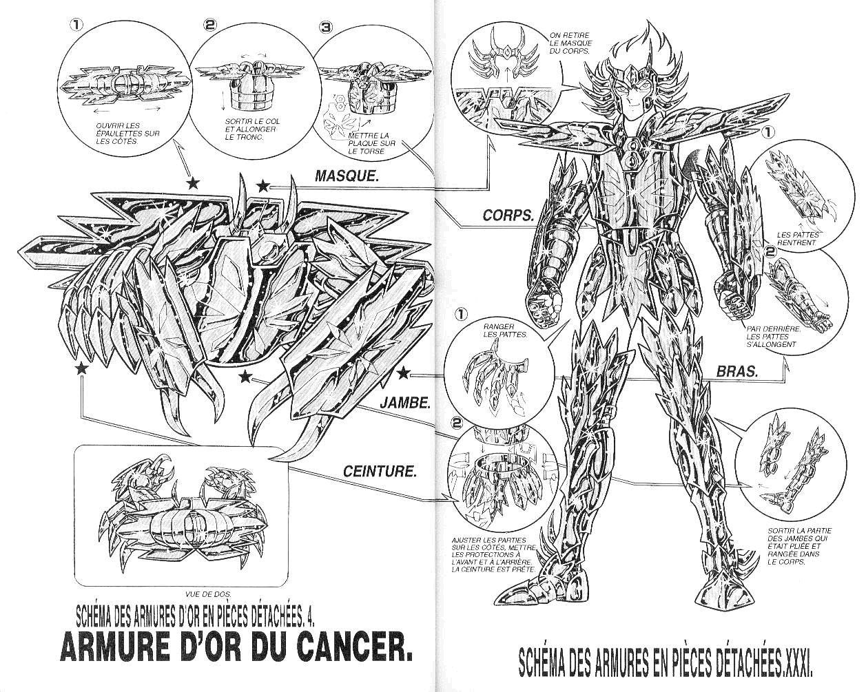 Saint Seiya Cancer Cloth Diagram