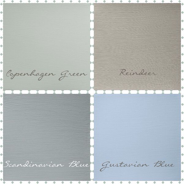Lovely Soft Palette Of Chalk Paint Scandinavian Colours