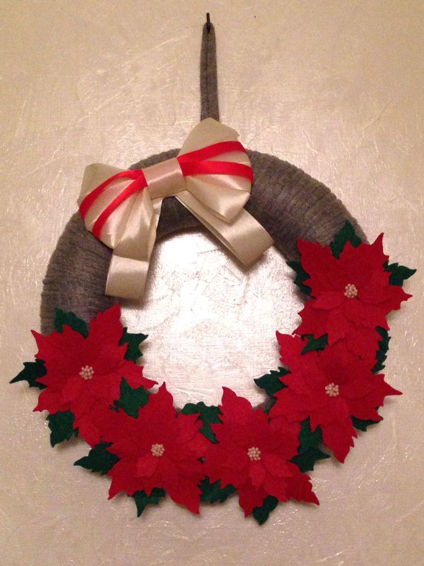 Preferenza Ghirlanda natalizia rivestita in fettuccia. Decorata con stelle di  RJ67