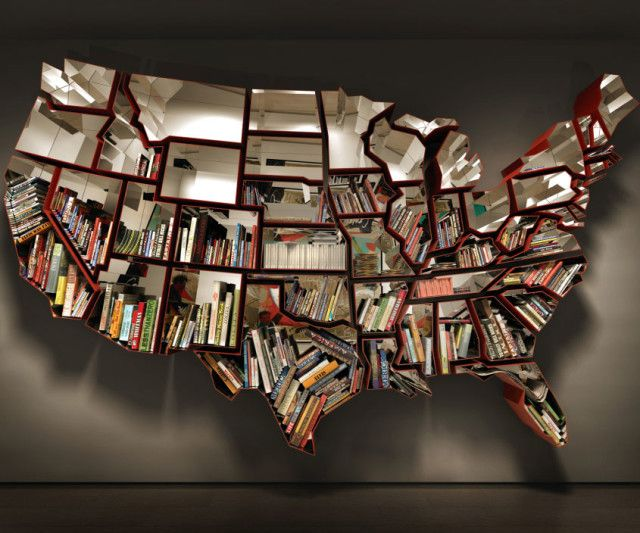 Show off your patriotism with this unique giant bookshelf shaped like the good ol' United States of America. This artistic yet functional bookshelf was designed by Ron Arad, and will be a centerpiece in any home or office - maybe even the oval office.