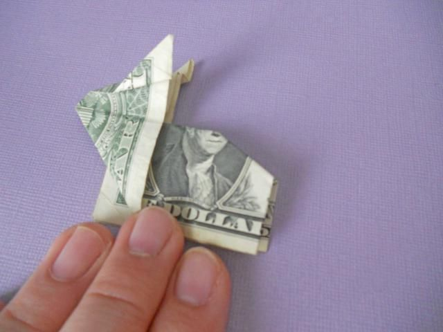 7 Simple Steps To An Adorable Money Origami Bunny Origami Bunny