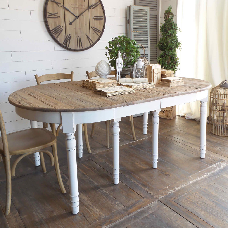 Tavoli Vintage Bianchi.Acquista Online Il Tavolo Ovale Allungabile New Vintage