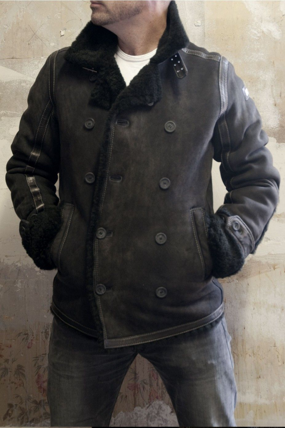 Leather jacket hoi an - Amazing New Diesel Lagua Sheepskin Black Leather Jacket From Bootsjeanslthrs