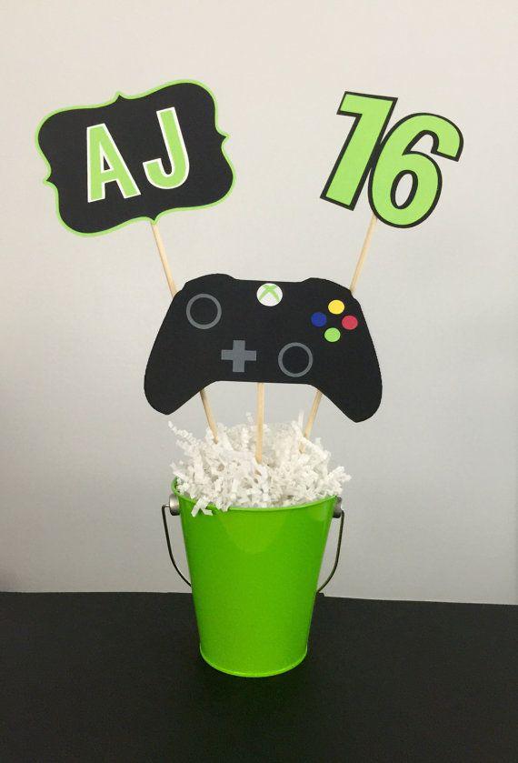 Xbox Birthday Centerpiece En 2019 Manualidades Centros De Mesa