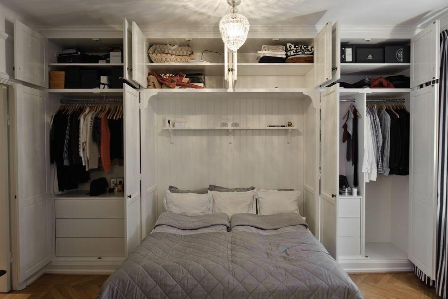 sovrum platsbyggd bokhylla Google Search Inredning Pinterest Sovrum, Google och Garderob