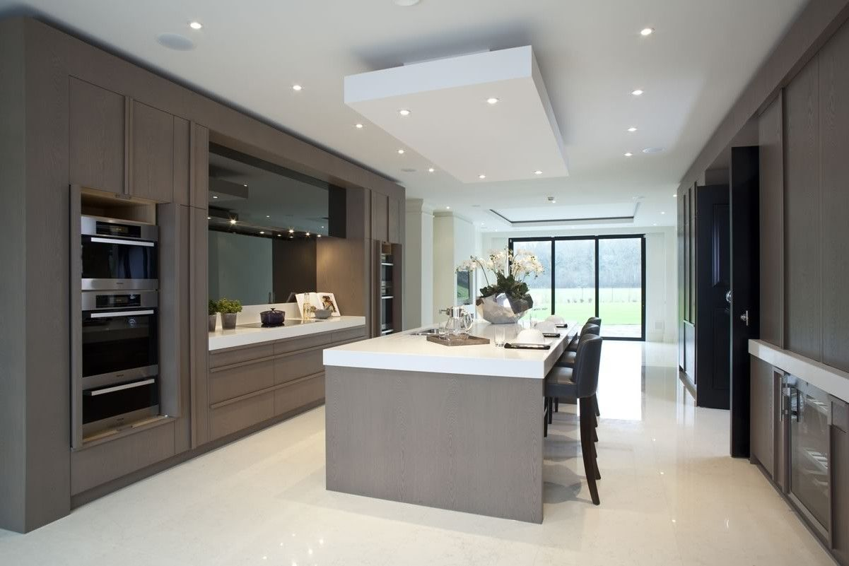 Taupe Black And White Contemporary Kitchen Panache Kitchens