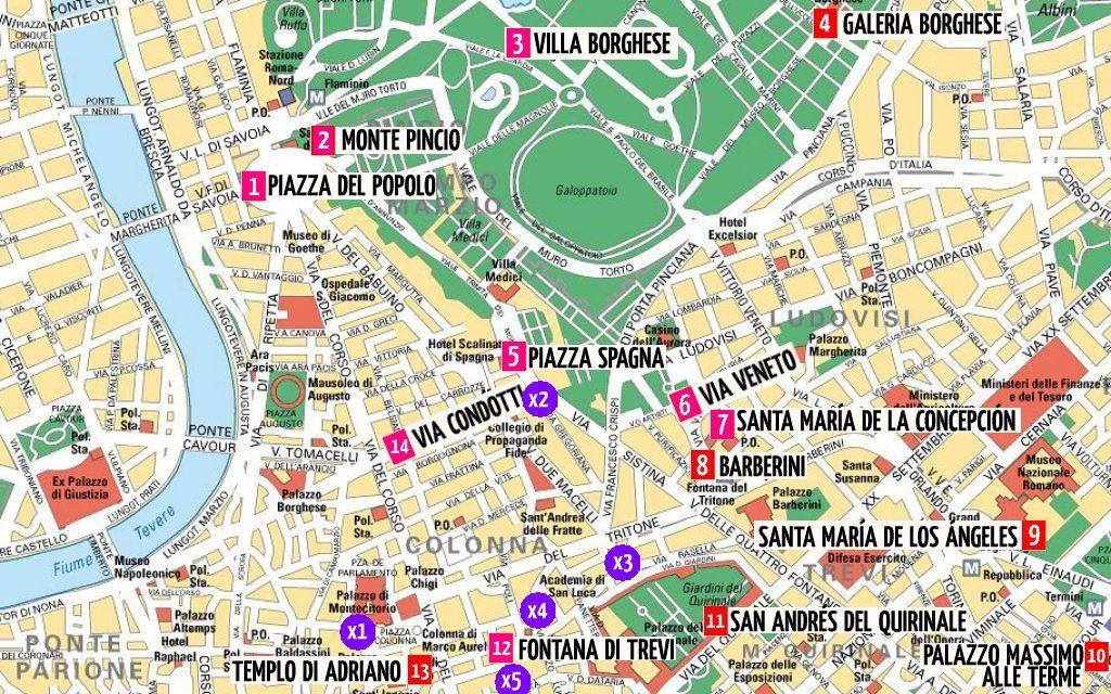 Turistico Español Mapa Turistico De Roma A Pie.Mapa De Roma Con Planos En Detalle Para Tu Viaje P2 En