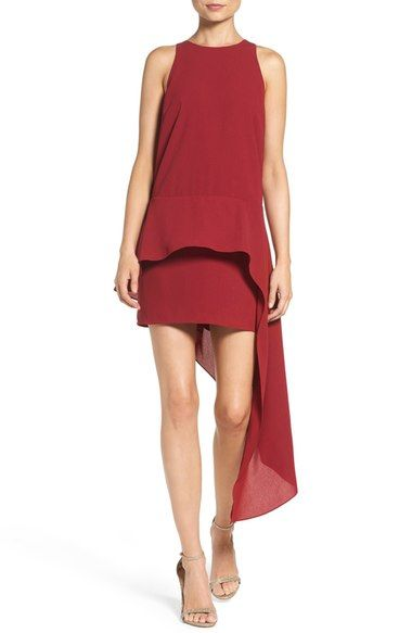 Ali & Jay Asymmetrical Georgette Peplum Dress available at #Nordstrom