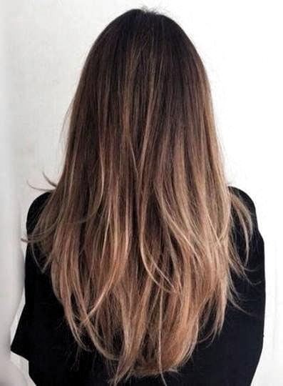 22 Ideas Hair Brunette Balayage Straight Caramel Highlights #hair