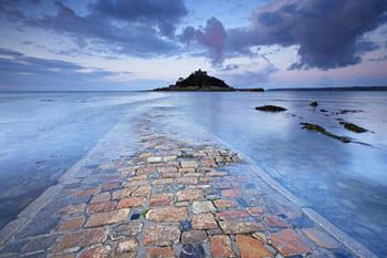 'Tranquillity Dawns - St Michael's Mount, Cornwall' by Helen Dixon