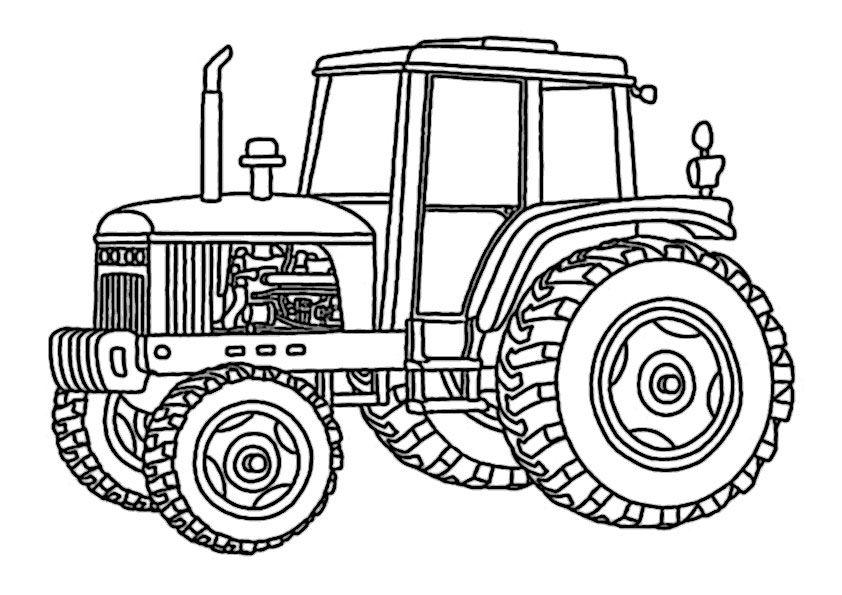 traktor ausmalbilder 07 | värityskuvia | Pinterest | Traktoren ...