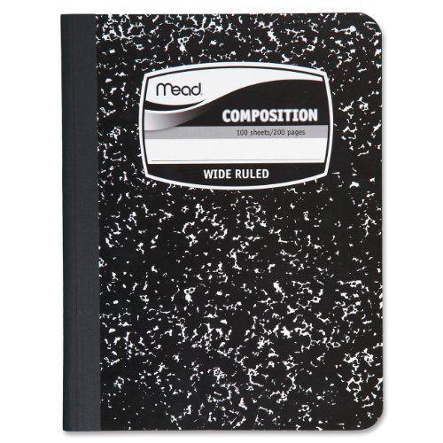 1-noir Et Blanc Cahier De Composition De Mead De Air Jordan