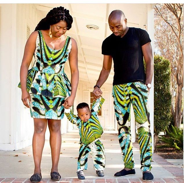 Wax Family Time African Fashion Ankara Kitenge African Women Dresses African Prints