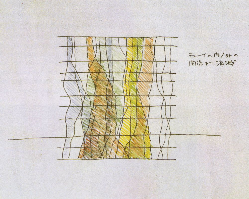 Toyo Ito Drawing Of Sendai Mediathéque   The Paradox Of Lightness And  Fluidity   Nalata Nalata