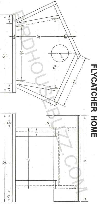 Flycatcher Bird House Plans Bird House Plans Bird House Kits Bird House
