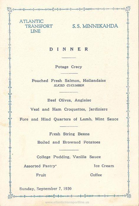 1900u0027s Menu4 1900s Menus Pinterest Menu restaurant - dinner menu