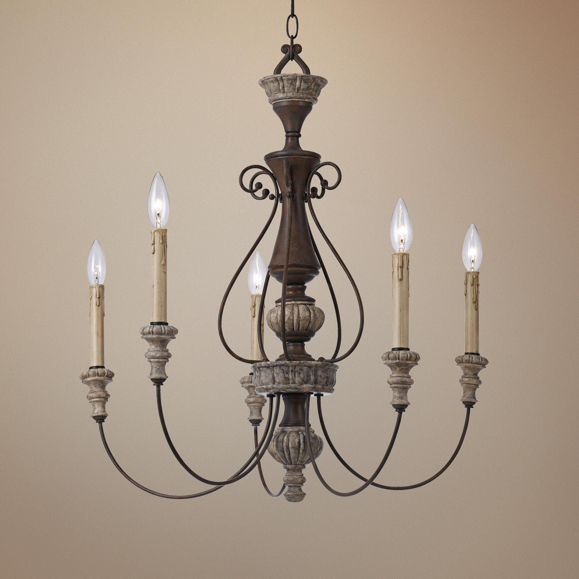 """Williams Collection 27"""" Wide Rust Chandelier Small light"""