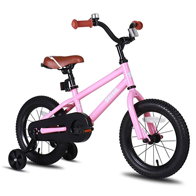 Amazon Com Joystar 16 Kids Bike For Girls 5 6 7 Years Old With Training Wheels Kids Bicycle With Coaster B Bike With Training Wheels Kids Bike Toddler Bike