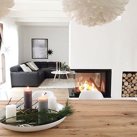 Super Stylische Wohnzimmer Gestaltung Mit Dem Haupt Augenmerk Auf Den Wundervollen Kamin