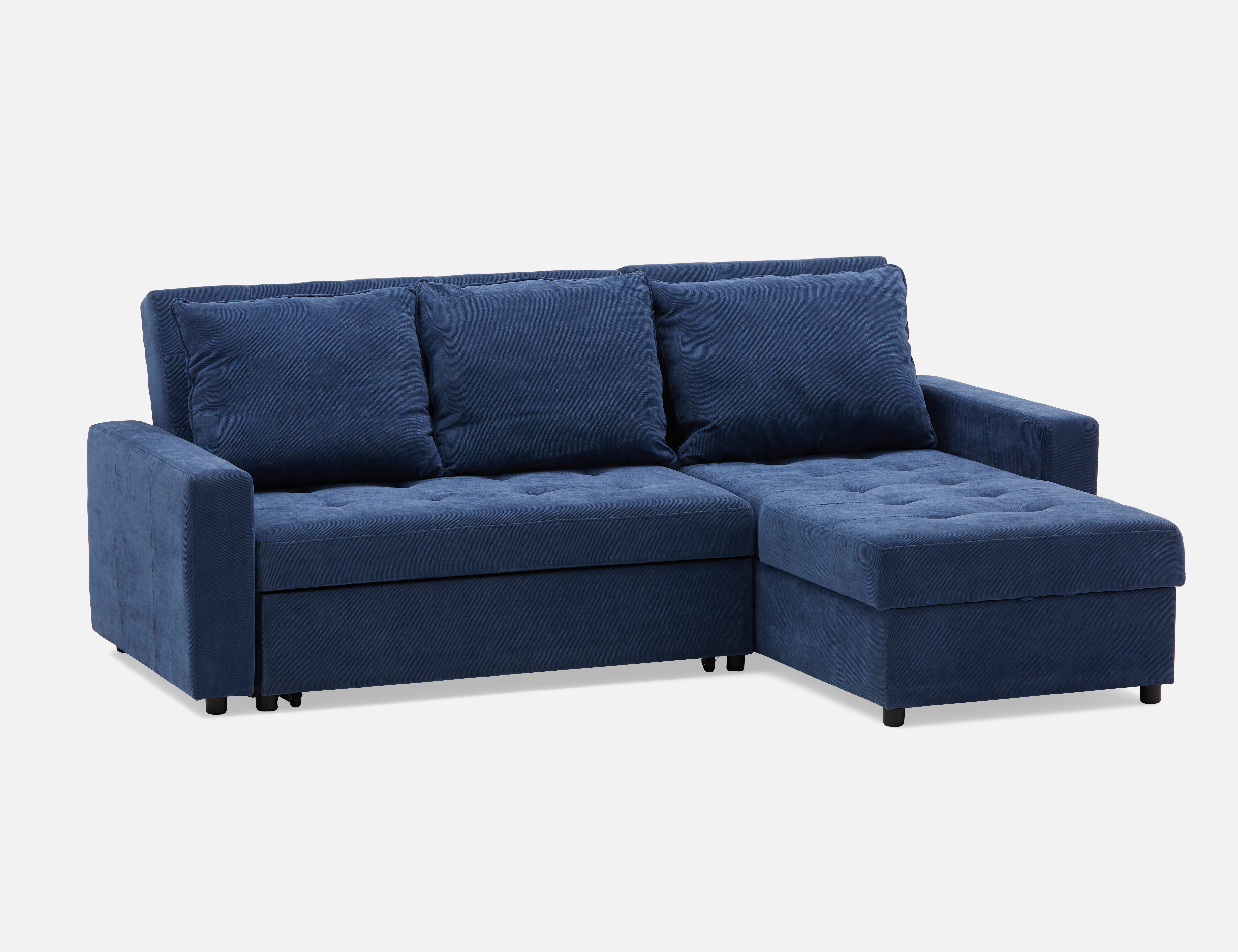 Dark Blue Interchangeable Sectional Sofa Bed Structube Megan Sofa Bed With Storage Sectional Sofa Bed Storage