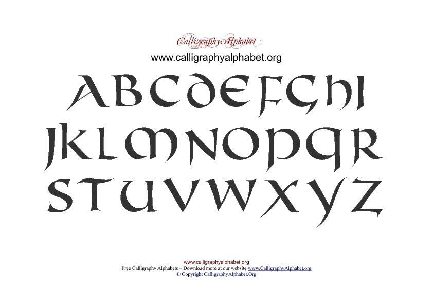 These Celtic Old Irish Themed Alphabets Can Be Used For