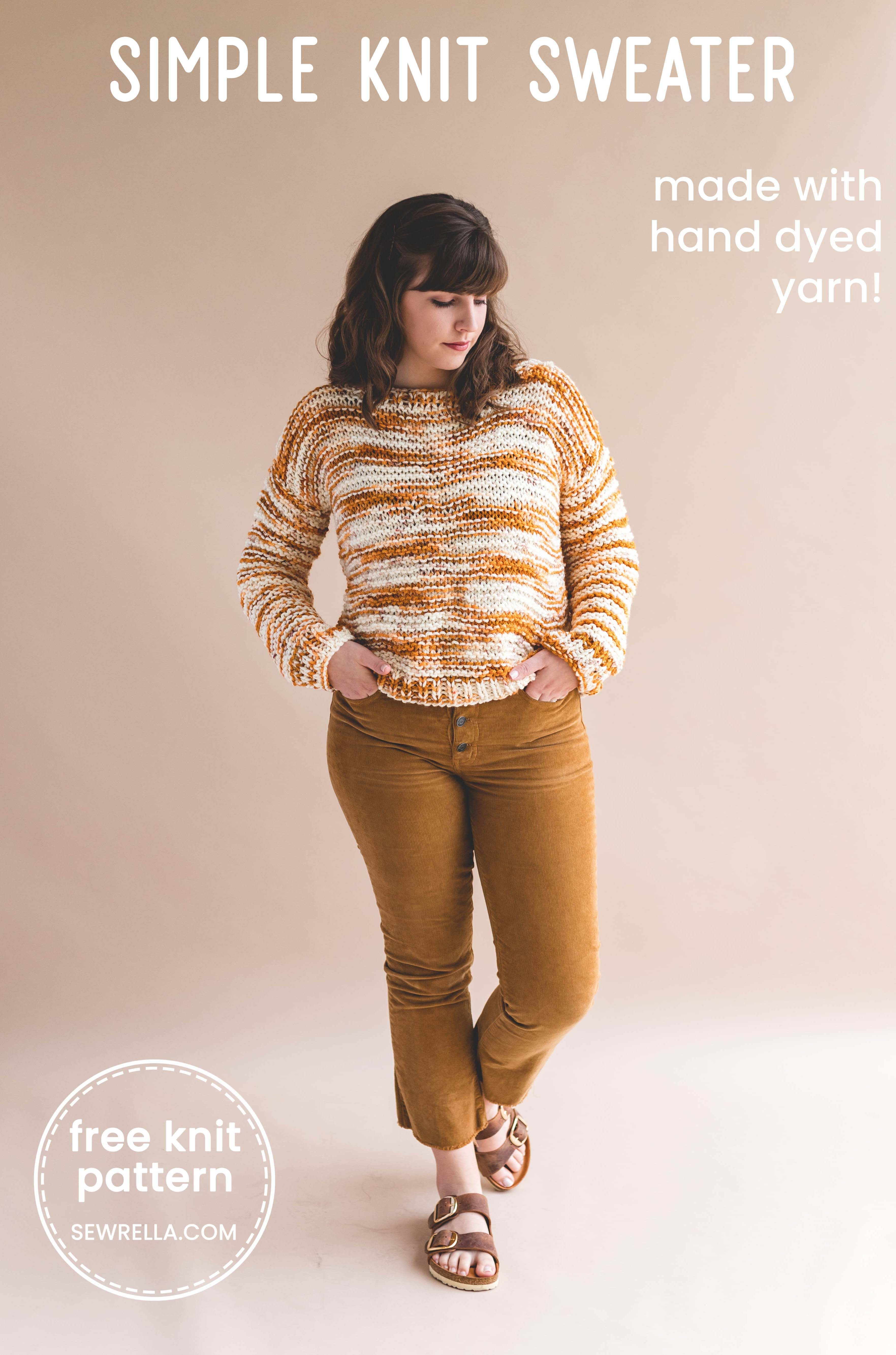 141d6246b The Handmade Home Fibers edition of this easy knit sweater makes for a  beautiful