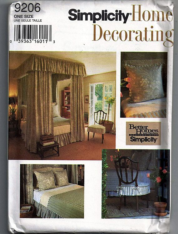 Create Your Own Elegance Original Simplicity Home Decorating Uncut Sewing Pattern 9306 By Grammysyarngarden On Etsy
