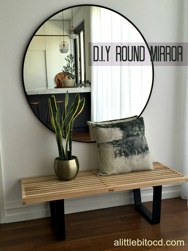do it yourself over sized round mirror statement for on ideas for decorating entryway contemporary wall mirrors id=31121