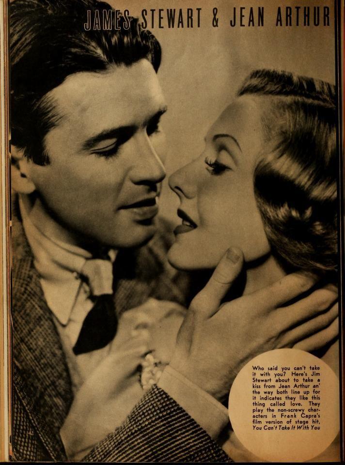 James Stewart and Jean Arthur